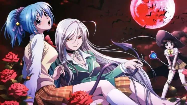 Rosario To Vampire - best ecchi harem anime