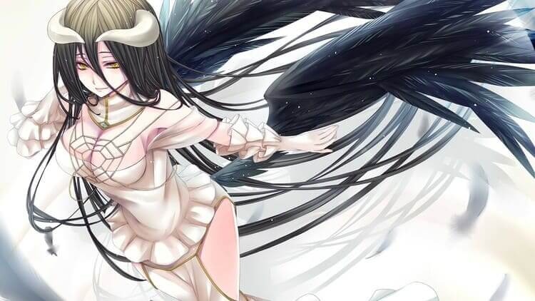Albedo - anime girl with horns and wings