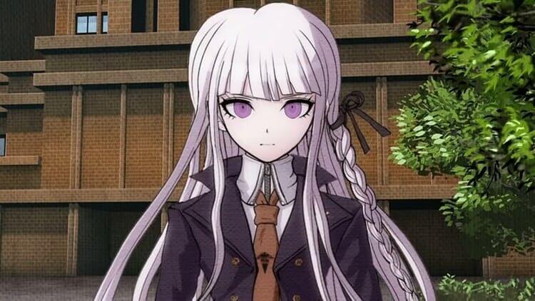 Kyoko Kirigiri - white hair anime girl with pink eyes