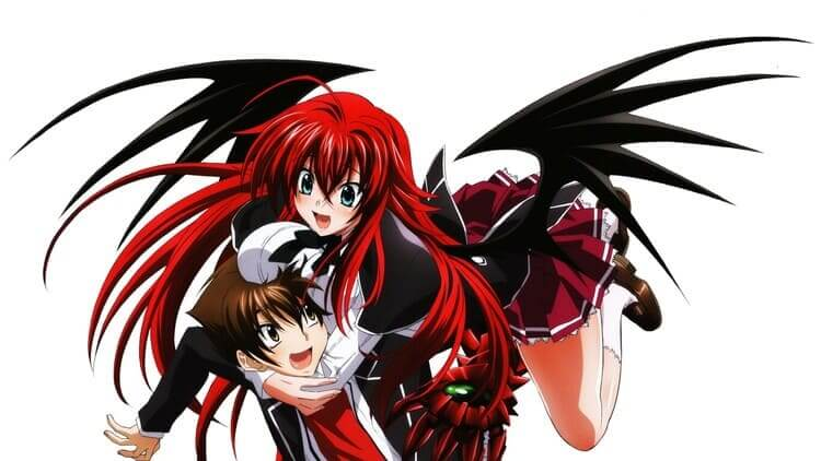 Rias Gremory - anime demon girl with wings