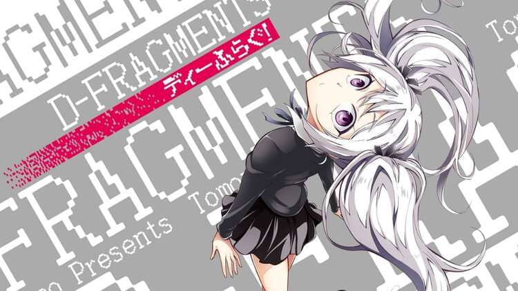 Tama - white hair anime girl with silver eyes
