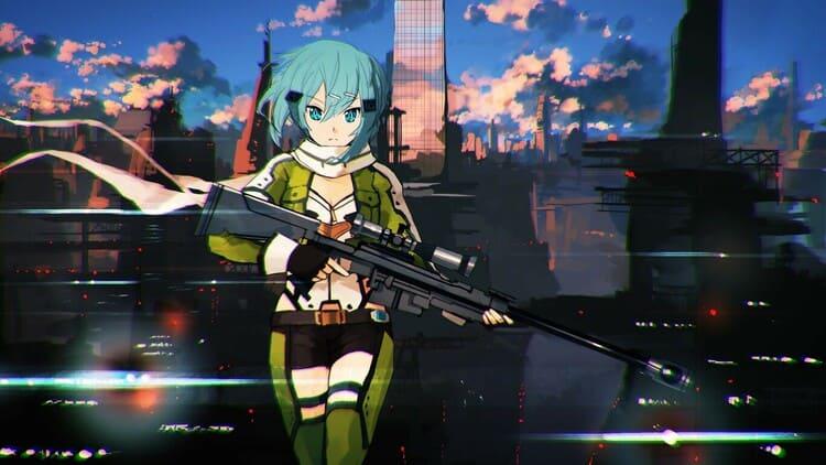 Shino Asada - Anime Girl With A Gun